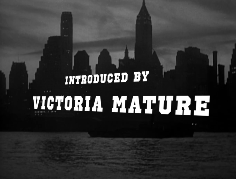 Victoria Mature's introduction to I Wake Up Screaming